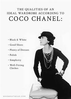 A S Ideal Wardrobe According To Coco Chanel Style