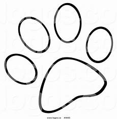 paw outline clipart free on clipartmag