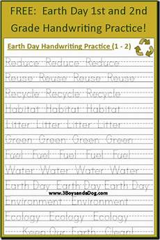 handwriting worksheets for class 3 21881 free earth day handwriting printables grades 1 and 2 3 boys and a