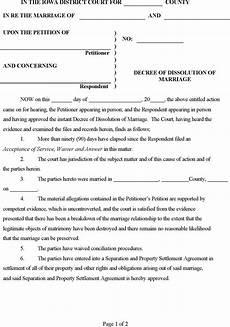10 iowa divorce papers free download