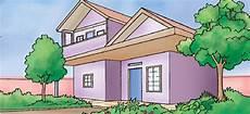 Gambar Rumah Kartun Di Lingkungan Desa Bb Rumah