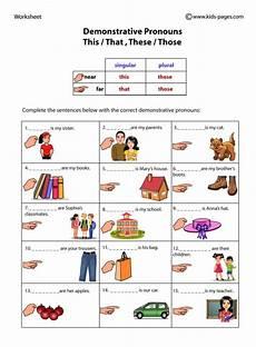 demonstrative pronouns worksheet