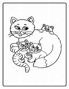 coloring pages cats family coloring page