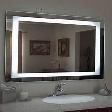 ktaxon anti fog wall mounted lighted vanity mirror led bathroom mirror rectangle walmart com