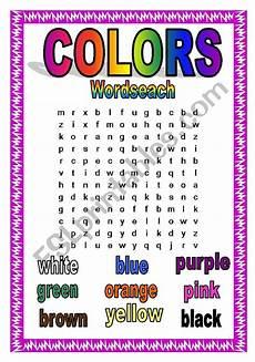 colors printable word 12830 colors wordsearch esl worksheet by agostine
