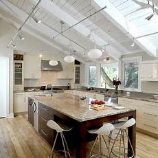 Kitchen Lights On A Track by Modern Kitchen Photos Sloped Ceiling Lighting Design Ideas