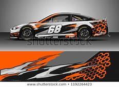 Car Wrap Design Vector Graphic Abstract Stock