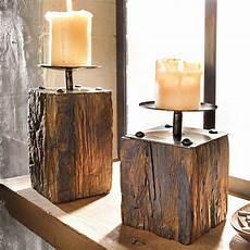 Holz Deko Modern - 2 tlg kerzenhalter set quot wood quot kerzenst 228 nder dekost 228 nder