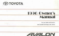 car service manuals pdf 1996 toyota avalon free book repair manuals 1996 toyota avalon owner manual 8 ebay