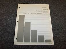 1995 toyota tercel and paseo air conditioner installation manual original 1993 toyota tercel paseo air conditioner ac service installation manual 1 5l ebay