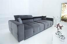 Big Sofa 290cm Grau Inkl Kissen Riess Ambiente De