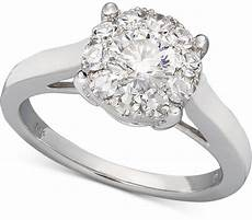 macy s macys diamond engagement ring in 14k white gold 1 1 2 ct t w shopstyle co uk