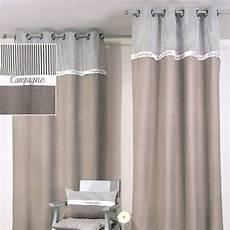 rideaux gris rideau 140 x h250 cm cagne gris rideau voilage