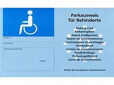 parkausweis für behinderte unbefristet parkausweis eu