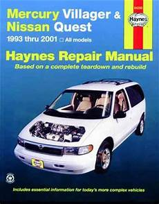 buy car manuals 2000 nissan quest electronic toll collection mercury villager nissan quest 1993 2001 haynes owners service repair manual 156392448x