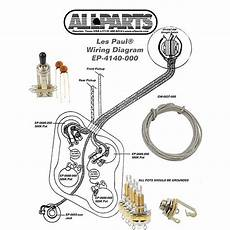 wiring kit gibson 174 les paul complete with schematic diagram reverb
