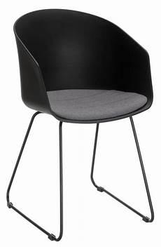 sitzkissen stuhl stuhl tusco kunststoffschale schwarz sitzkissen stoff