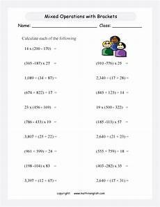 mixed multiplication and division worksheets grade 5 6584 mixed operations worksheet for grade 5 and 6 students involving multiplication division
