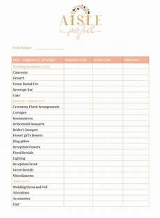 printable wedding budget worksheet aisle
