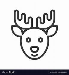 reindeer merry christmas theme outline vector image