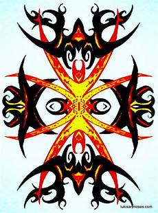 Desain Gambar Khas Etnik Dayak Untuk Sablon T Shirt