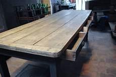 table ferme ancienne rustique bois chene massif d occasion