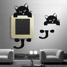 wall light decoration sticker black cute cat wall stickers light switch decor decals art mural nursery room ebay