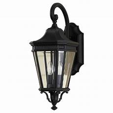 feiss cotswold 2 light black outdoor wall lantern ol5401bk the home depot