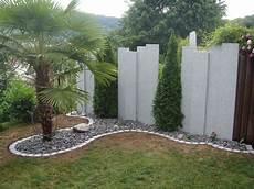 Sichtschutz Granitstelen Sichtschutz Garten Garten