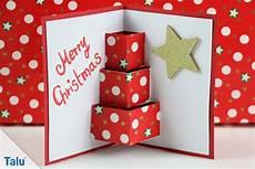 karten basteln weihnachten pop up karten basteln 3 ideen mit anleitung und vorlage