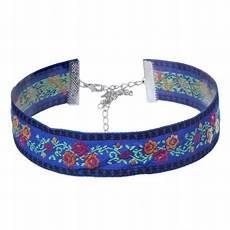 livraison fleurs tours collier tour de cou fleur bleu ruban femme fille floral