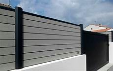 black composite fence in backyard composite wood fence