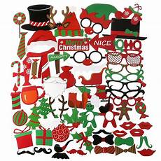 62pcs merry christmas photo booth props christmas party accessory for atmospheric and funny