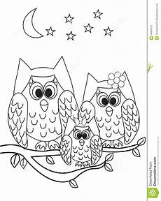 coloring page book owl stock illustration illustration