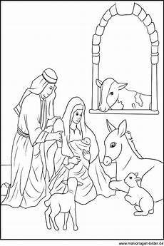 Christkind Ausmalbilder Zum Ausdrucken Malvorlage Weihnachtskrippe Ausmalbild Einer Krippe
