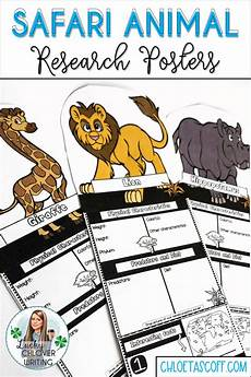 learning worksheets 18354 savanna animals animal research template distance learning research skills critical