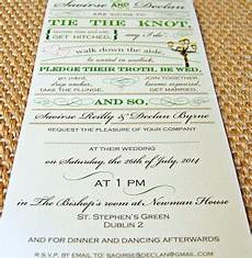 unique irish wedding stationery dublin city wedding invitation