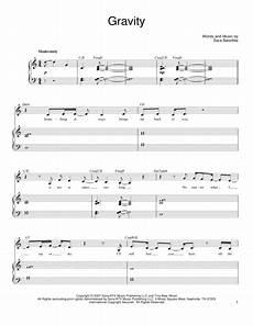 download gravity sheet music by bareilles sheet music plus