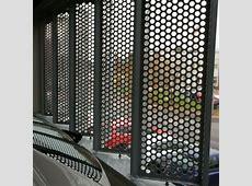 Altnagelvin Hospital Car Park   Perforated Metal