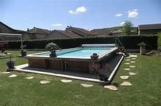 piscine hors semi enterree piscine hors sol ou semi enterr 233 e acier et bois 7m x 3 50m