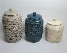 rustic kitchen canister sets drewderosedesigns rustic quilted 3 kitchen canister