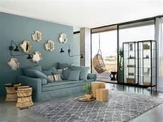 deco salon tendance tendance gris bleut 233 pour une d 233 co de salon douce et