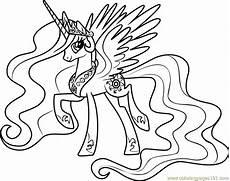 princess celestia coloring page free my pony