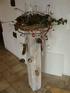 hoomelich weihnachtlicher balken mit weidenschn 252 renkranz