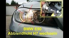 halogenle wechseln anleitung bmw e90 abblendlicht wechseln leuchtmittel h7