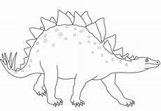 stegosaurus dinosaur coloring page free printable