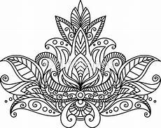 Indianer Muster Malvorlagen Or Indian Paisley Floral Element Isolated On White