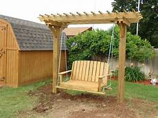 pergola swing pergola swings and bower swing carpentry plans arbor plans