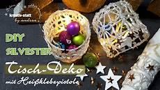 Silvester Deko Diy - diy silvester tischdeko mit hei 223 klebepistole how to