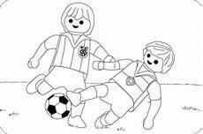 ausmalbild fussball 02 playmobil dibujo dibujos